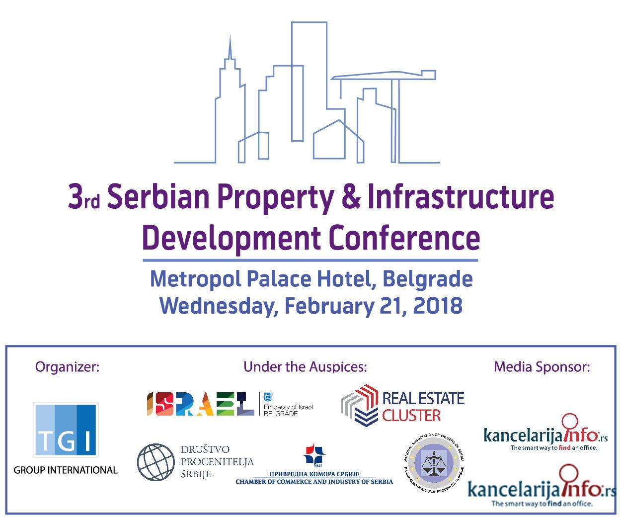 Treća srpska konferencija o razvoju nekretnina i infrastrukture odžava se u Beogradu