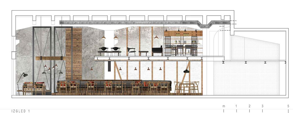 Idejni projekat A4 Studio - Restoran Ambar