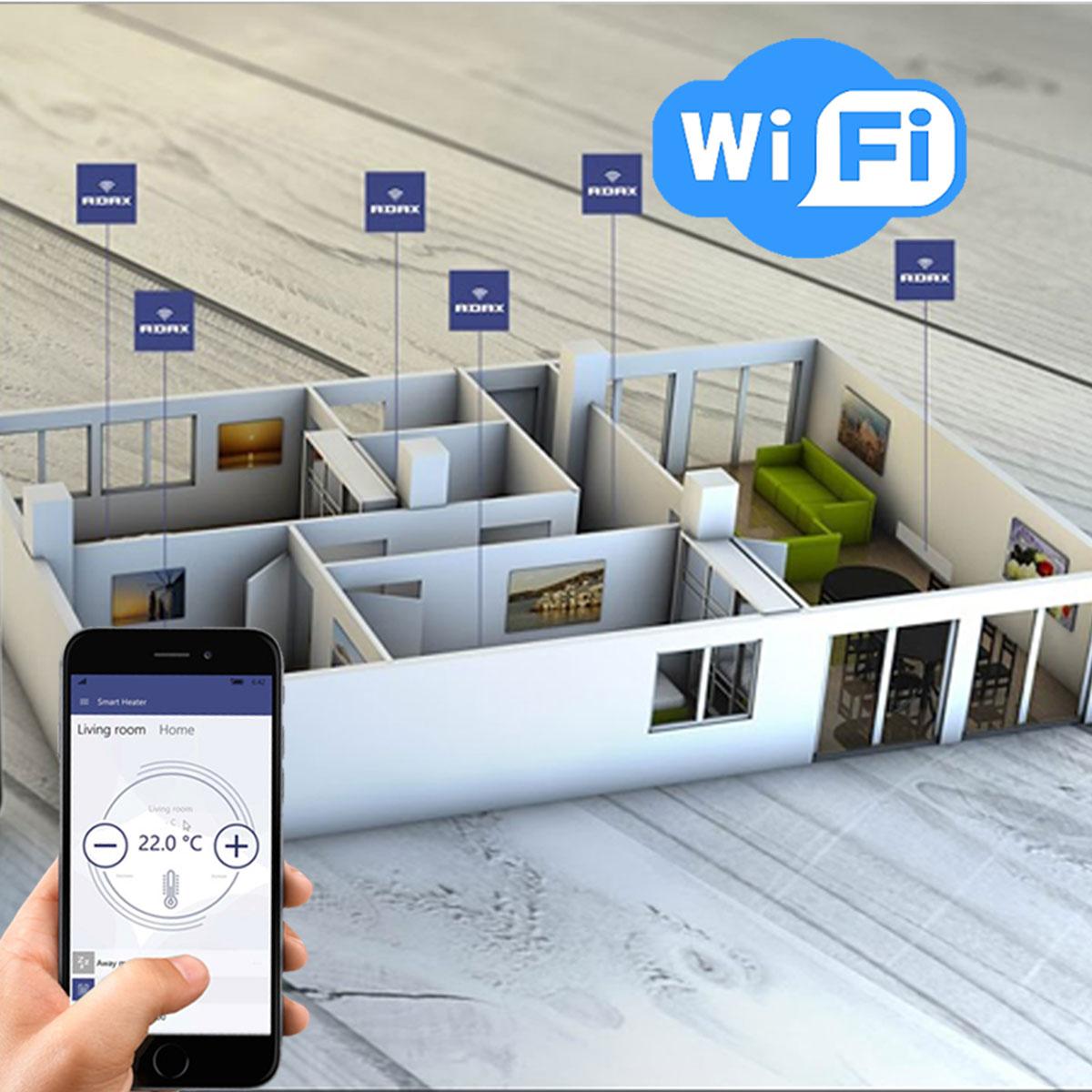 Pametna generacija ADAX NEO WiFi norveških radijatora