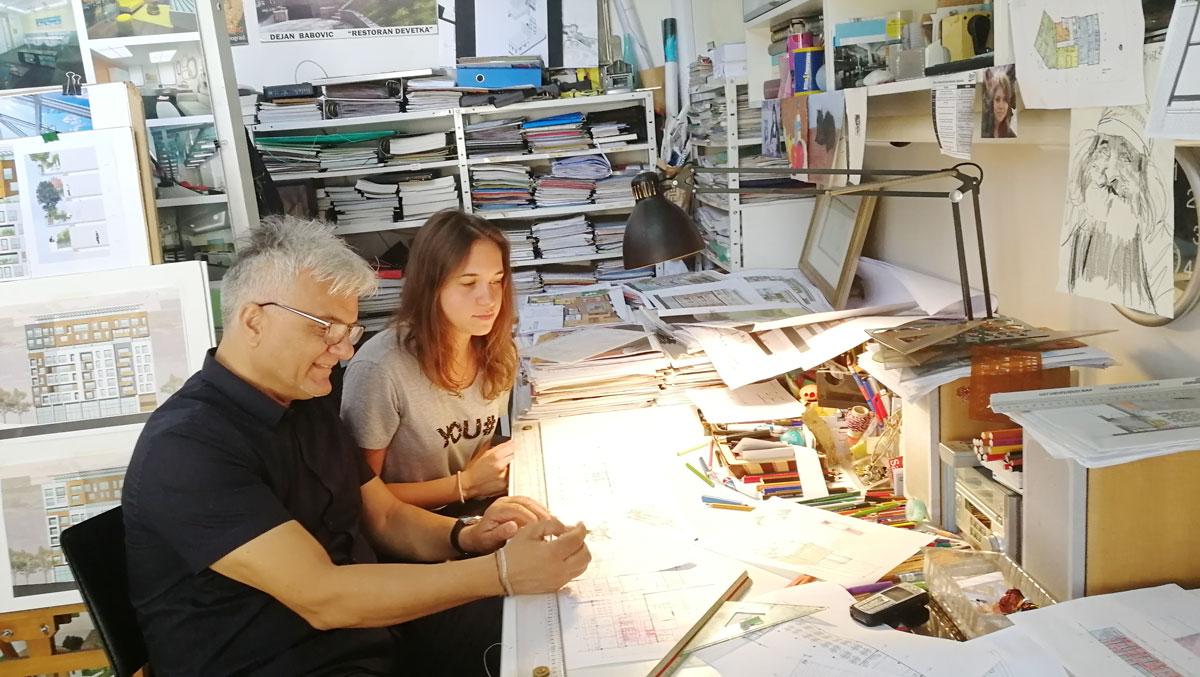 Arh. Dejan Babović sa saradnicom Katarinom Tomić
