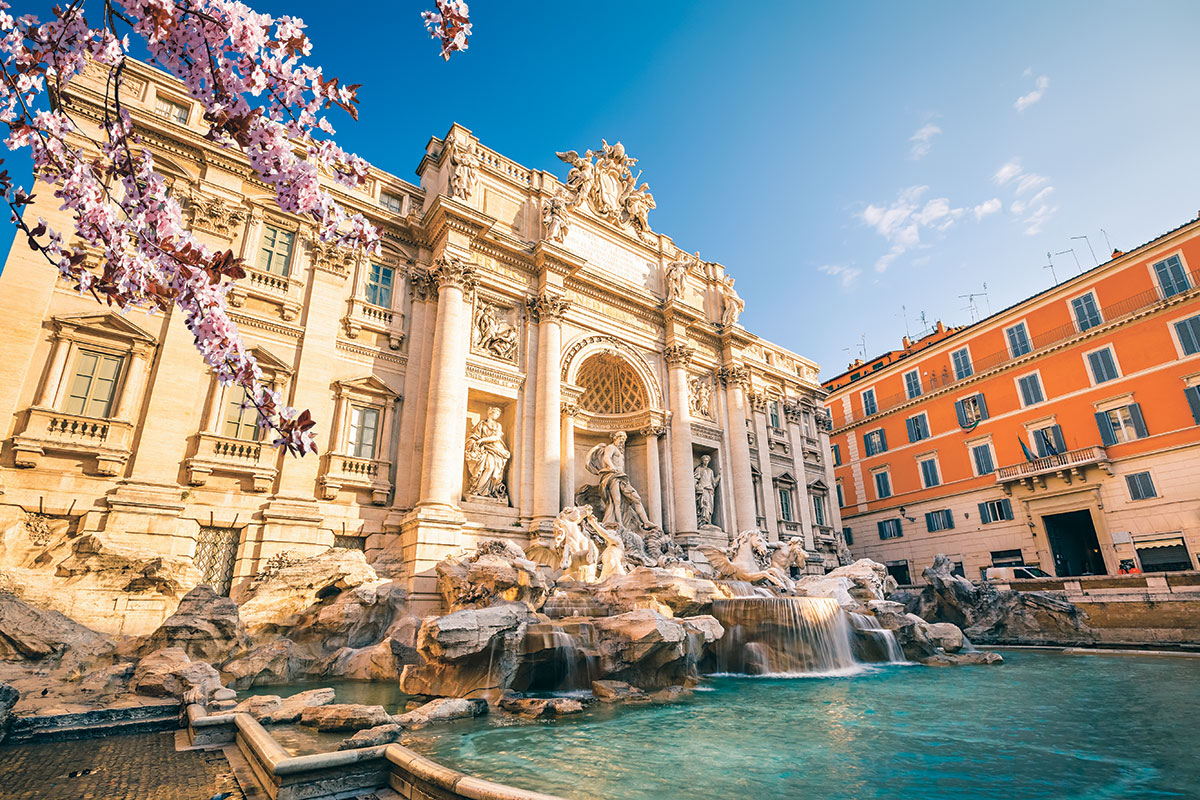 Fontana di Trevi, Rim