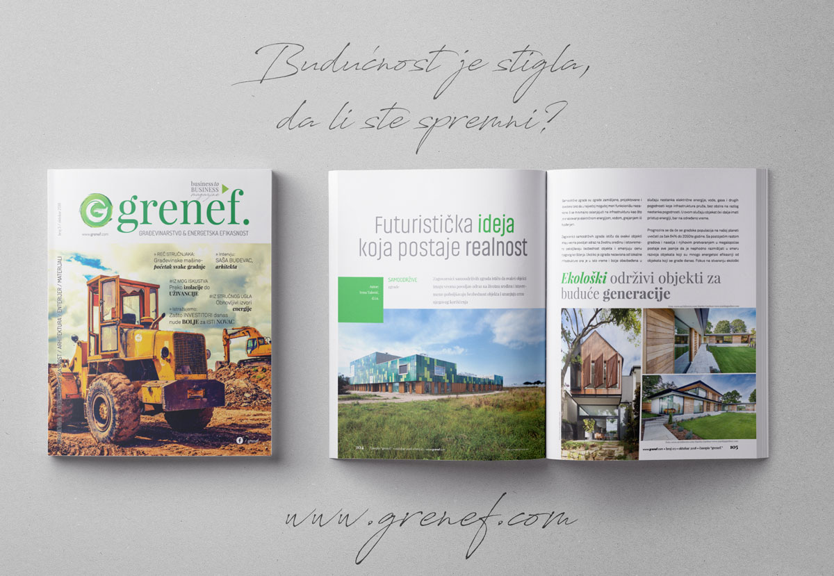 Časopis GRENEF-Građevinarstvo & Energetska Efikasnost, broj 3, oktobar 2018