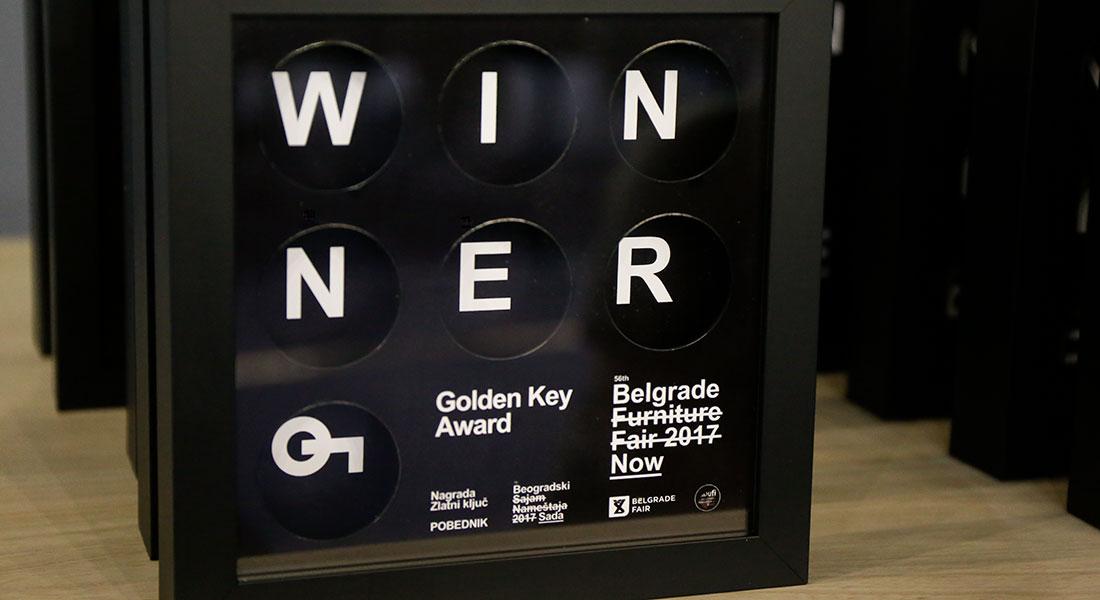 """""""Zlatni ključ"""", prestižna nagrada Međunarodnog sajma nameštaja"""