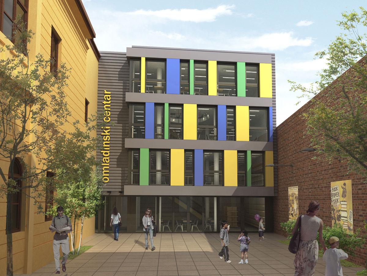 3D model: Gradska biblioteka Sombor, dogradnja Omladinski centar