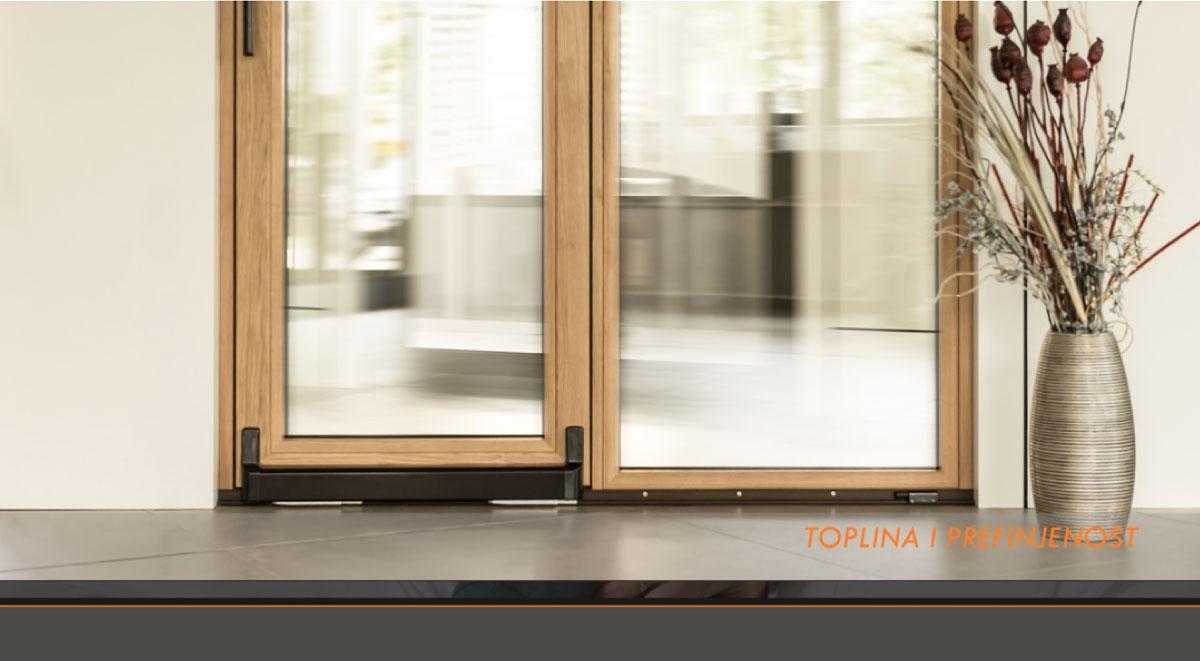 Luksuzni sistemi u kombinaciji aluminijum-drvo W-THERM 104