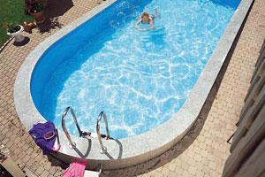 Styropool bazen sa jednom ovalnom stranom