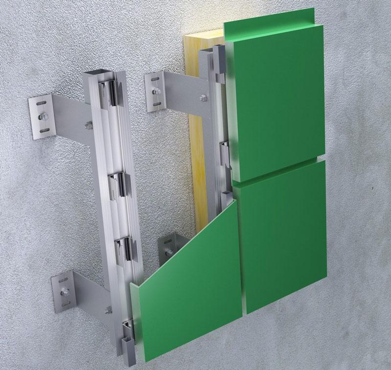 Tehnomarket, ventilirajuća fasada - aluminijum