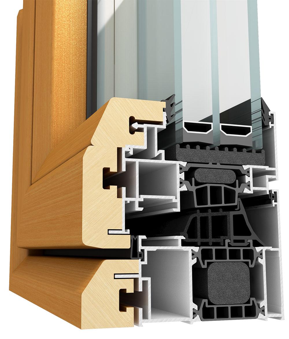 Tehnomarket sistem sa najboljim karakteristikama se Lineal W-TERM 104 alu-drvo stolarija
