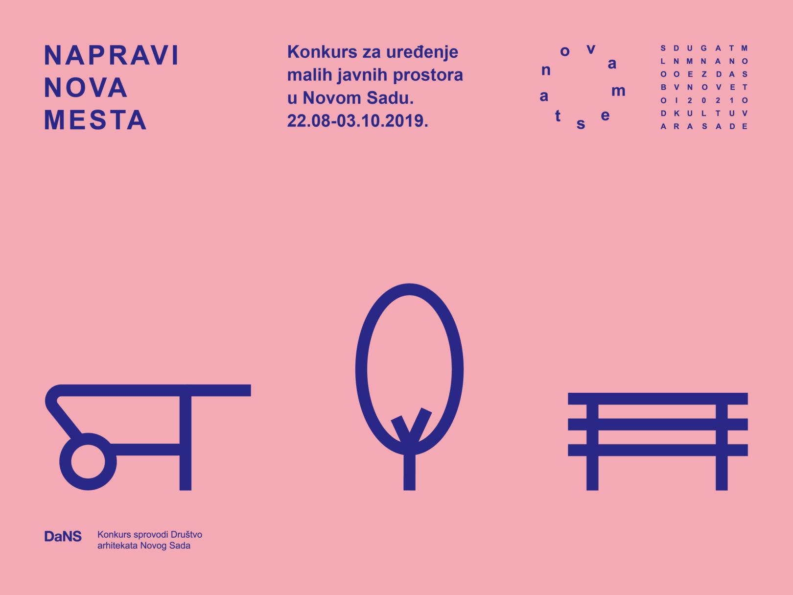"""""""NOVA MESTA"""" 2019 – Konkurs za dizajn malih javnih prostora u Novom Sadu"""