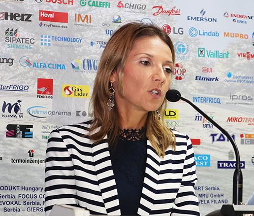 Gđa Bojana Radeski, rukovodilac Grupe za zaštitu ozonskog omotača u Ministarstvu zaštite životne sredine Republike Srbije