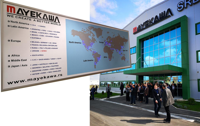 """Kompanija """"Mayekawa"""" posluje na svim kontinentima"""