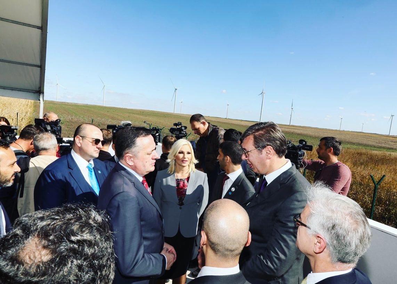 Ministar Antić sa predsednikom Vučićem na otvaranju najveceg vetroparka u Srbiji i regionu Zapadnog Balkana