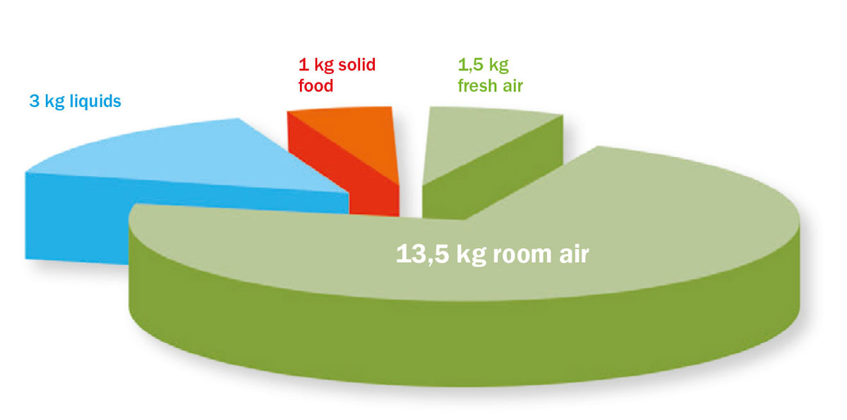 Vazduh je naša glavna hrana
