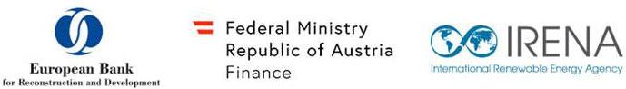 Europian bank IRENA Federal Ministry Republic of Austria logos