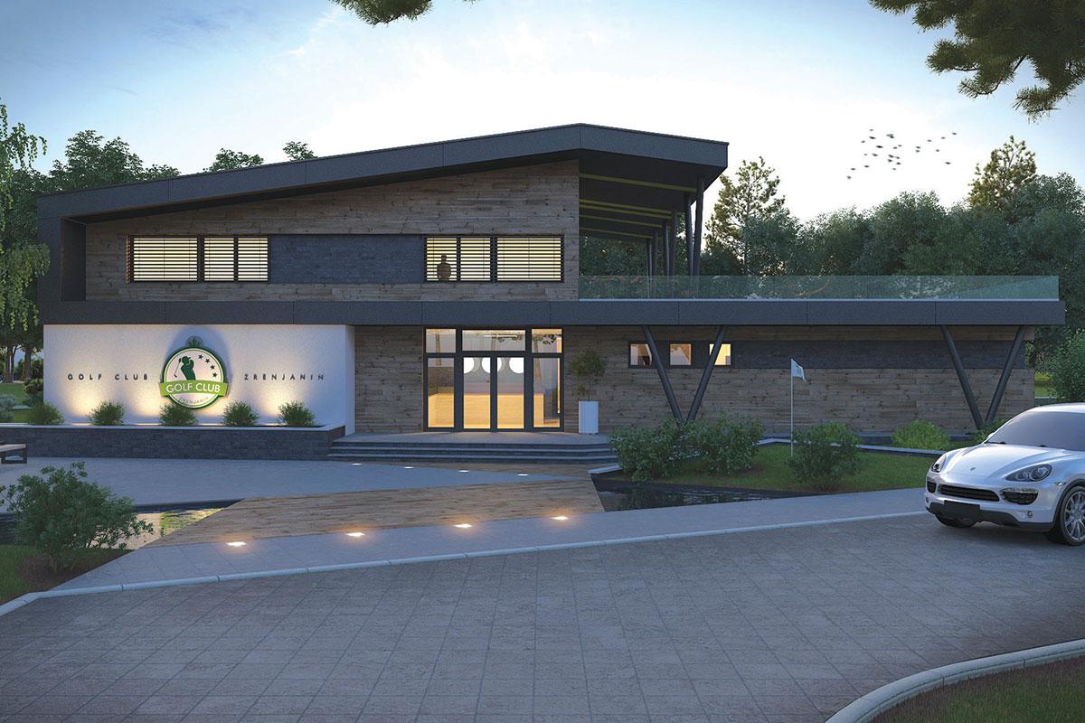 Idejno rešenje objekta Golf centra u Zrenjaninu