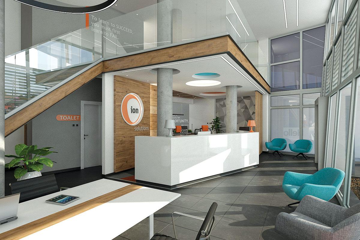 Projekat enterijera za poslovni objekat iON solutions