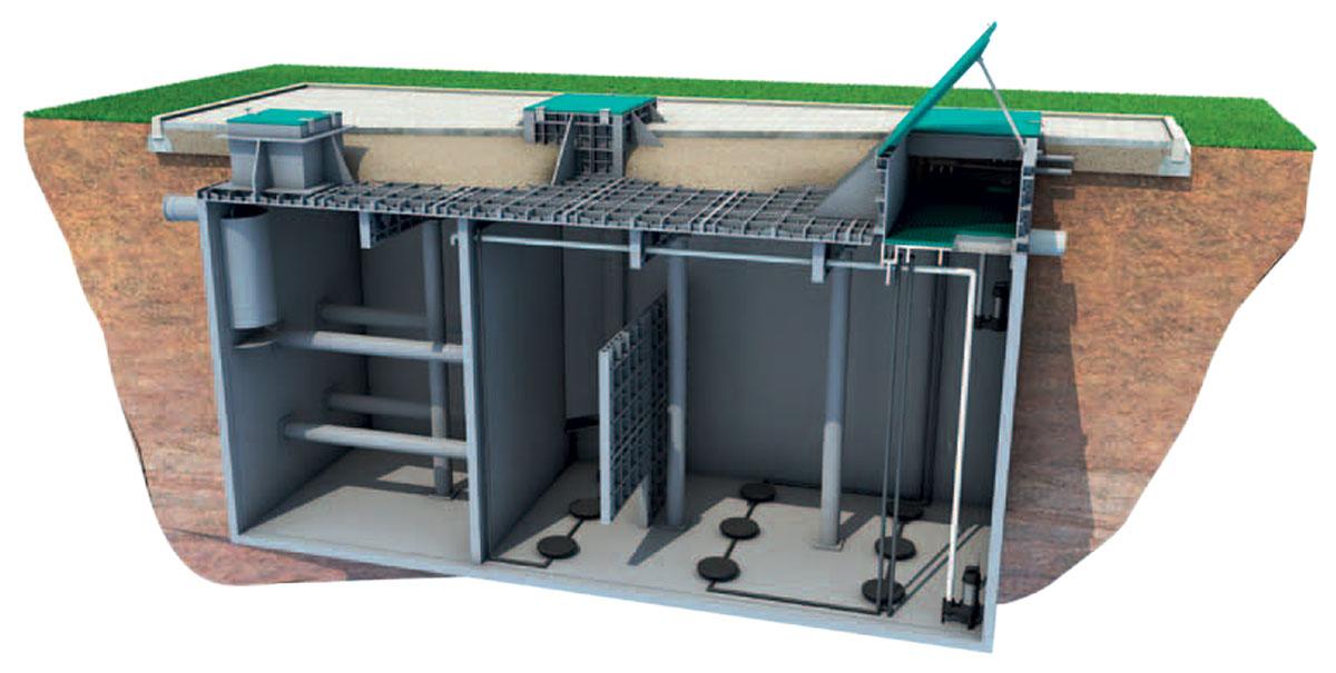 Biološki uređaj za prečišćavanje otpadnih voda AS HSBR