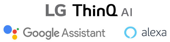 LG TV AI THINQ and google assistant + Alexa