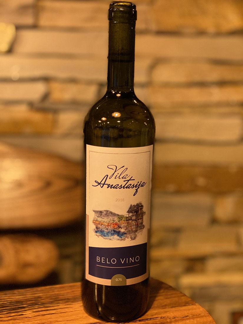 Vikendica Vila Anastasija domaće vino