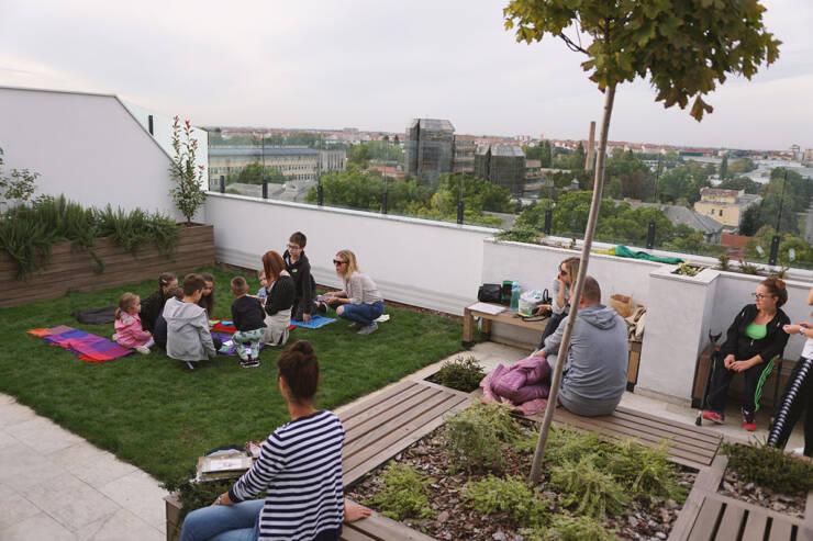Intenzivni zeleni krov Erker Inženjering, stambeni objekat u Futoškoj 57, Novi Sad Foto: Rale Zekić