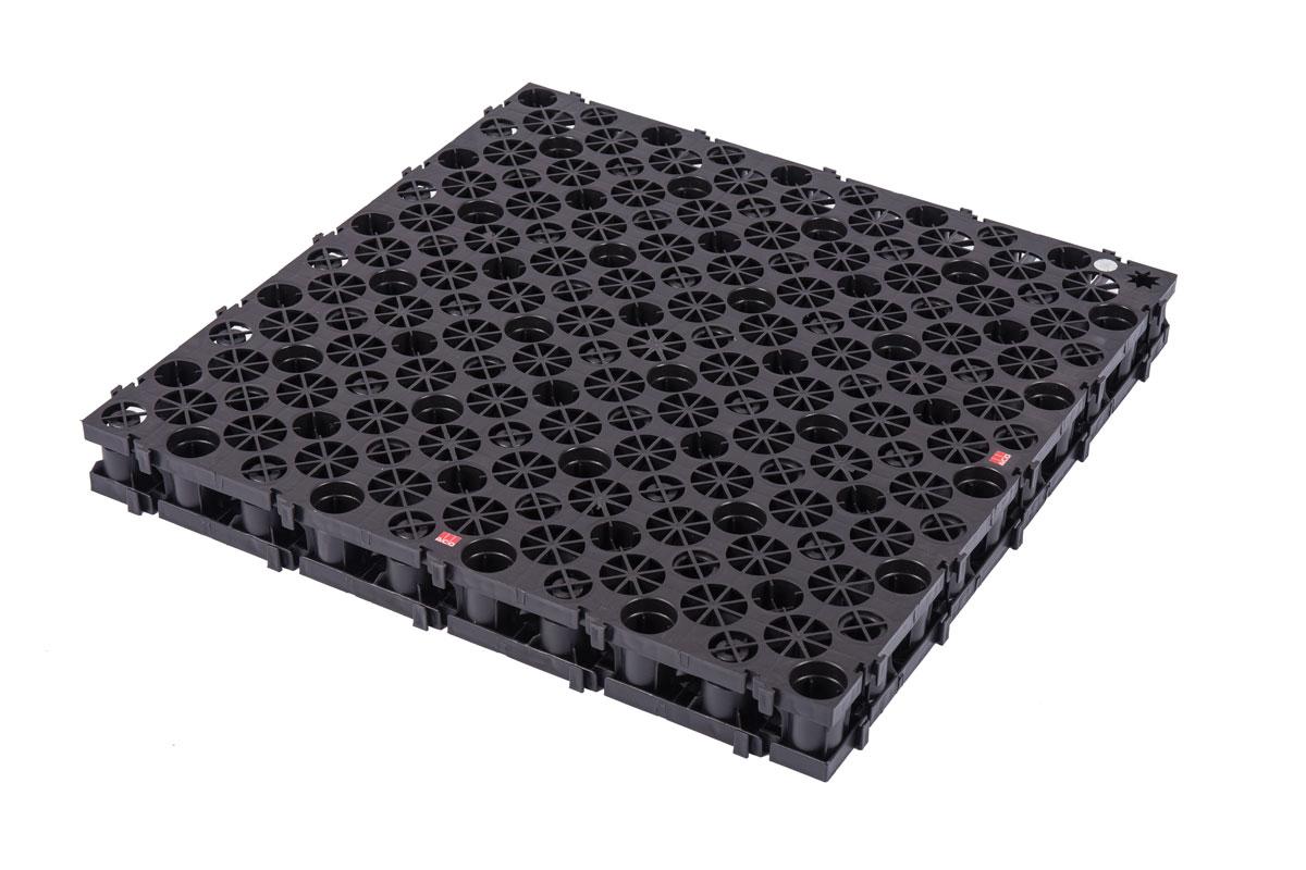 Sistem za upravljanje kišnicom na plavim i zelenim krovovima ACO RoofBloxx®