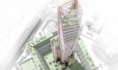 Projekat - Kako u Londonu može izgledati supervisoka građevina drveta Oakwood Tower u gradu sa 80 spratova dizajniran od strane PLP architecture