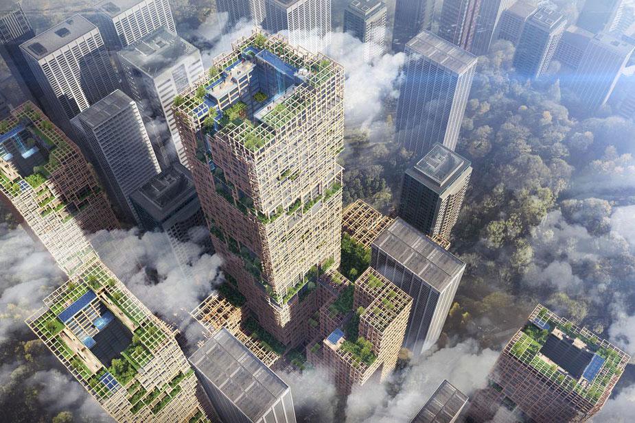 Tokio gradi drveni neboder