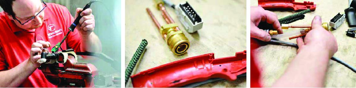 Precizno lemljenje, komponente vrhunskog kvaliteta i sklapanje gorionika od strane iskusnih stručnjaka – kao rezultat daju gorionike napravljene po meri operatera