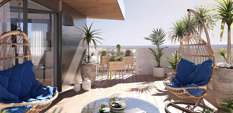 """Balkoni su ispunjeni biljkama, kao i zajednički vrt, koji su arhitekti nazvali """"urbana džungla""""."""