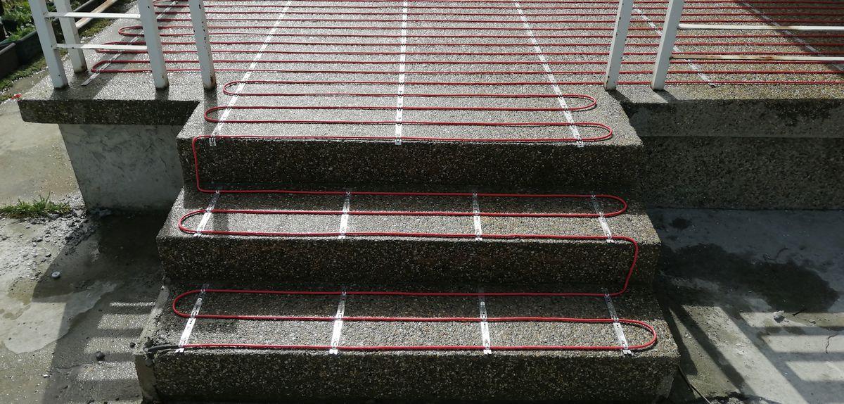Grejni kablovi stepenice terasa montaza