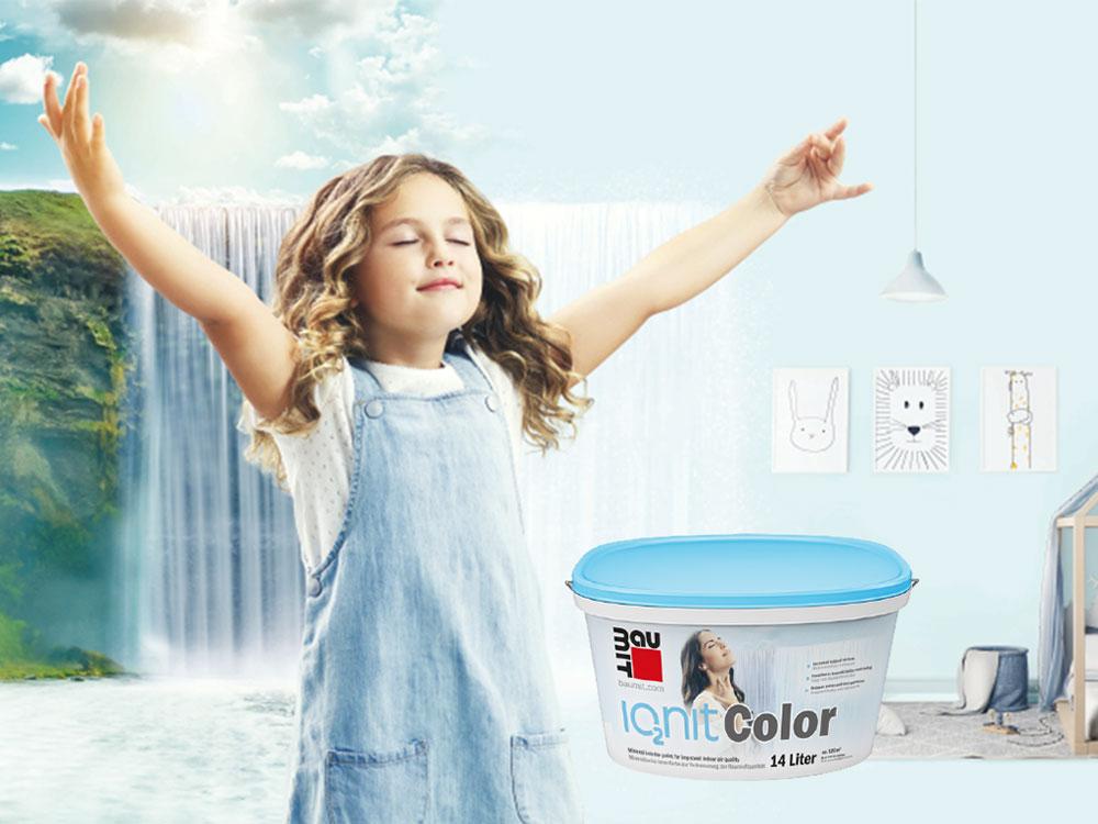 Baumit IonitColor boja za unutrašnje zidove aktivno poboljšava vazduh
