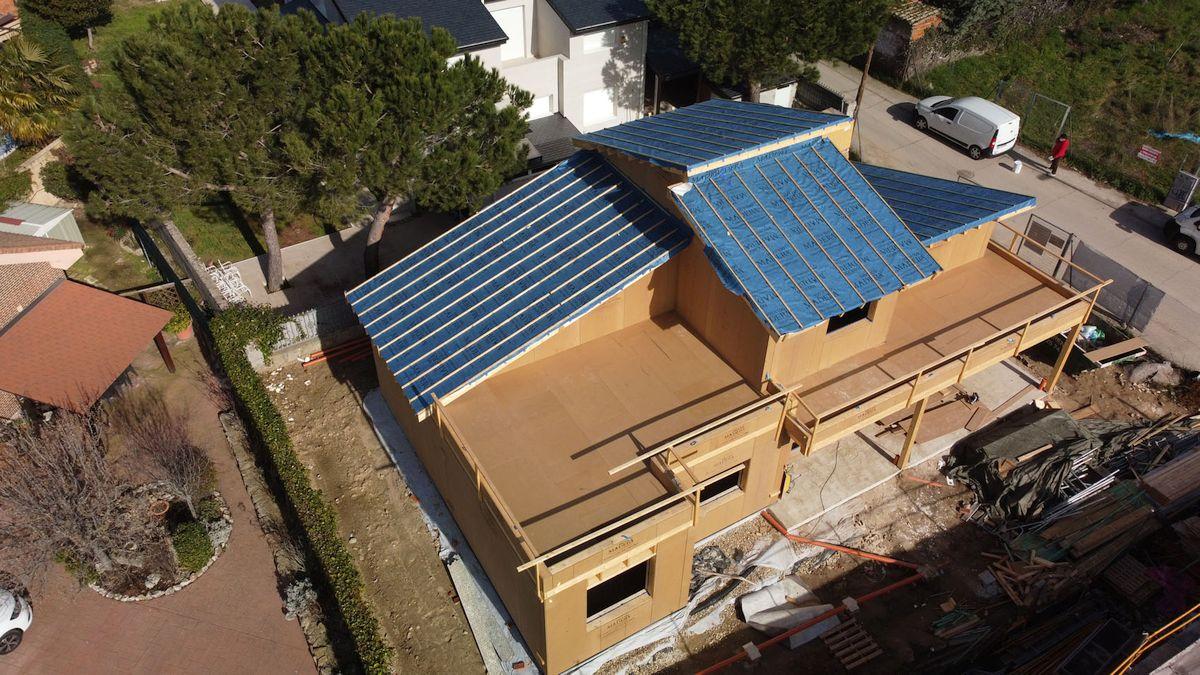 Španska kompanija 100x100biopasiva trenutno gradi eko pasivnu kuću od drveta nedaleko od Madrida