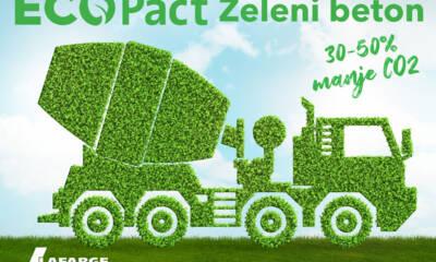 ECOPact Zeleni beton, materijal sa smanjenim sadržajem ugrađenog ugljenika